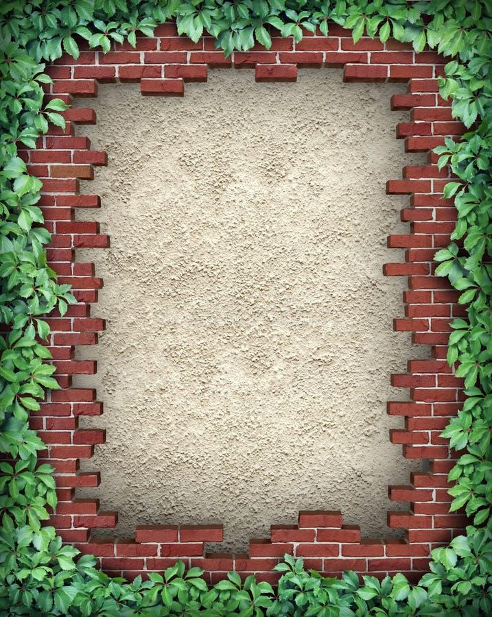 Trame cassée rustique de brique illustration libre de droits