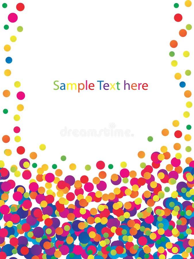 Trame colorée de confettis illustration stock