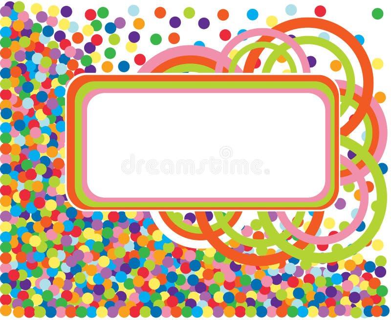 Trame colorée de confettis. illustration stock