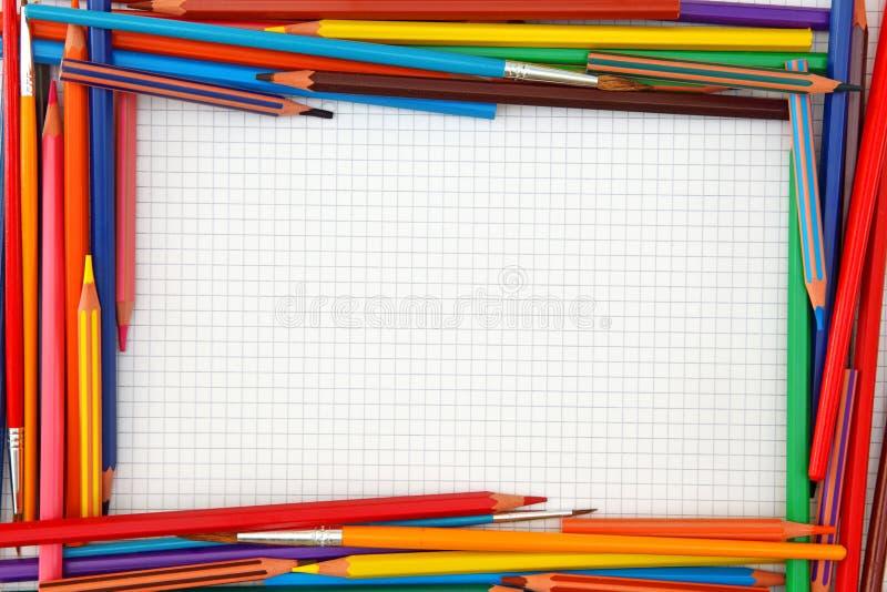 Trame colorée de crayons photo libre de droits