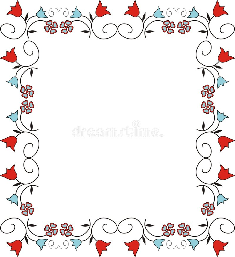 Trame décorative illustration stock