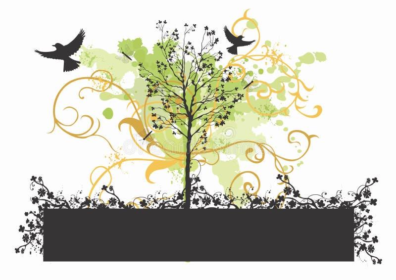 Trame décorative illustration stock