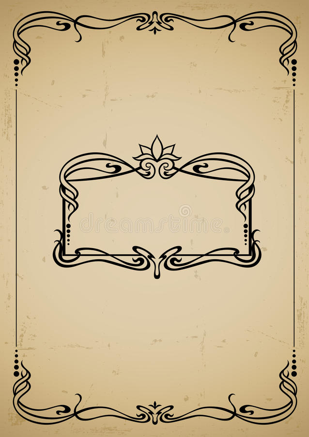 Trame décorative de cru illustration stock
