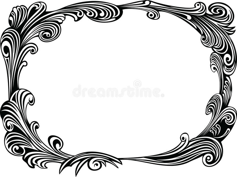 Trame décorative noire illustration stock