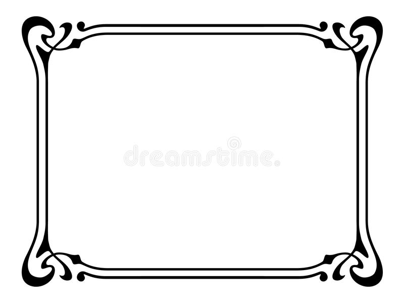 Trame décorative ornementale de nouveau d'art illustration stock