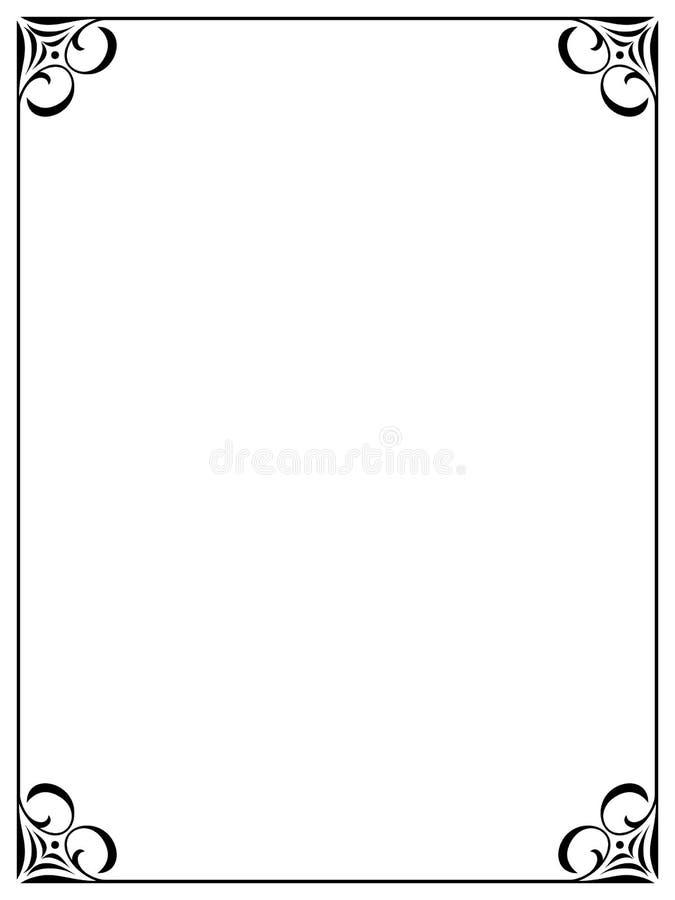 Trame décorative ornementale noire simple illustration libre de droits