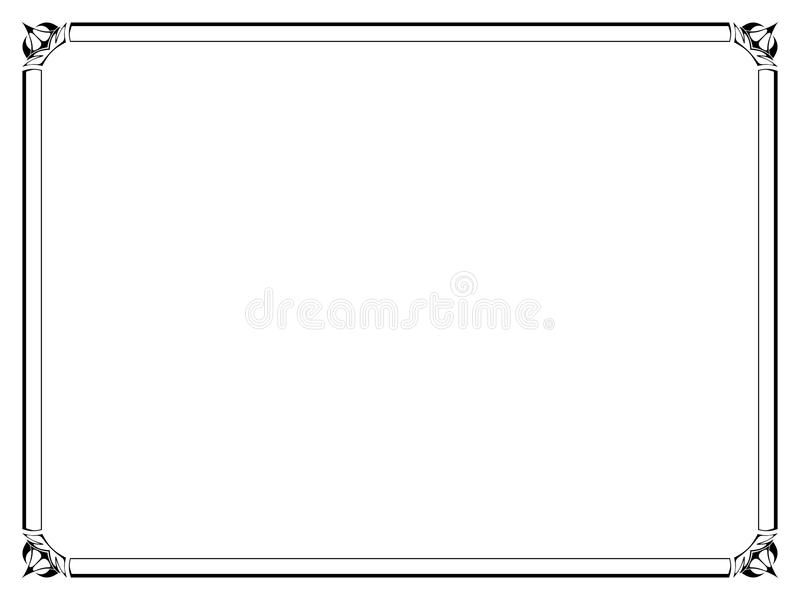 Trame décorative ornementale noire simple illustration de vecteur