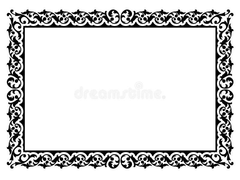 Trame décorative ornementale simple illustration de vecteur