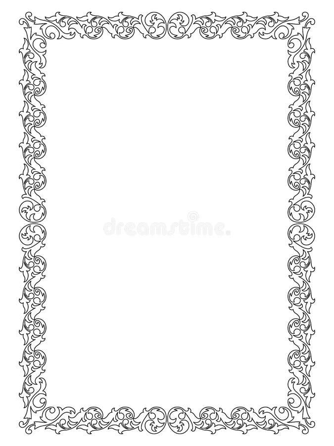 Trame décorative ornementale simple illustration stock