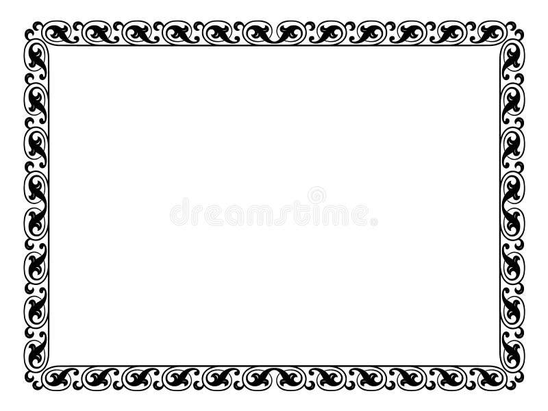 Trame décorative ornementale simple illustration libre de droits