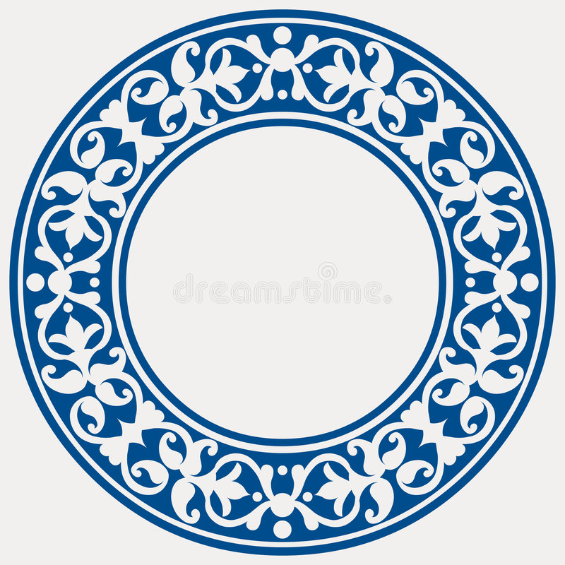 Trame décorative ronde illustration de vecteur