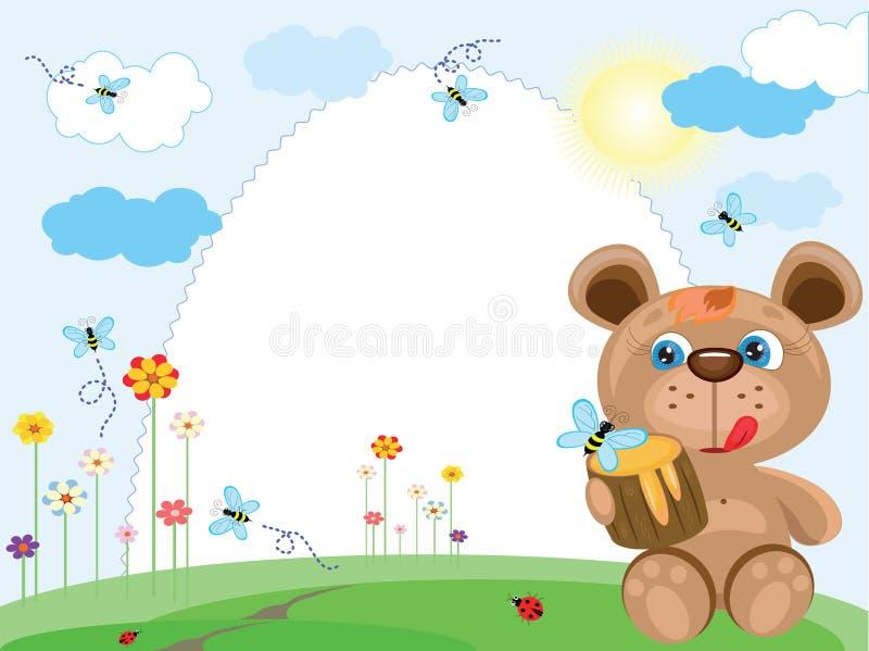 Trame d'été avec l'ours illustration libre de droits