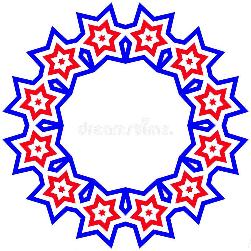 Trame d'étoile rouge, blanche, et bleue - fierté américaine illustration stock