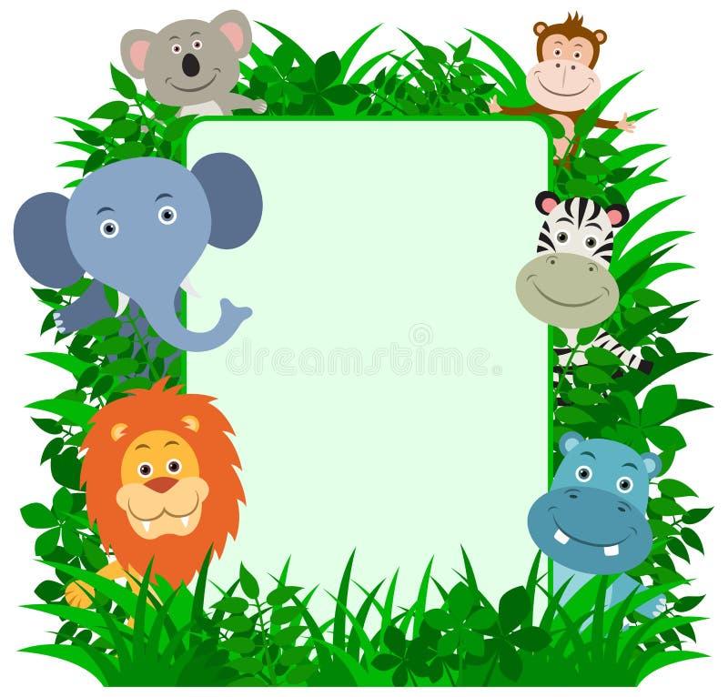 Trame d'animaux de jungle illustration de vecteur