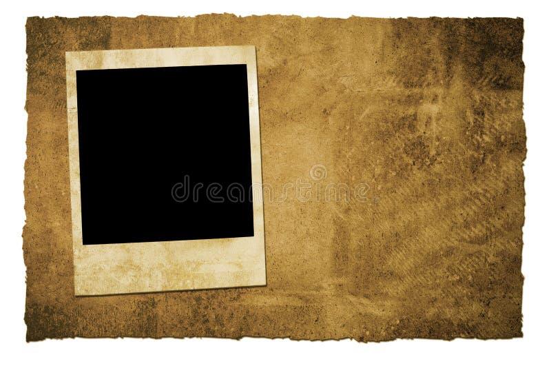 Trame d'appareil-photo instantané de cru illustration stock