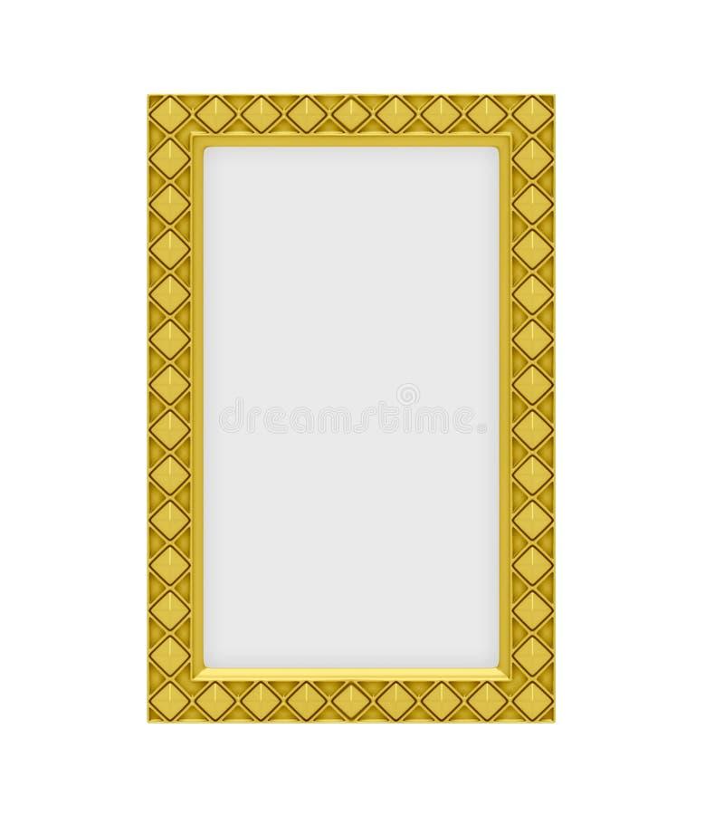 Trame d'or au-dessus de blanc illustration stock