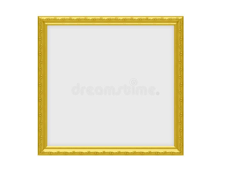 Trame d'or au-dessus de blanc illustration de vecteur