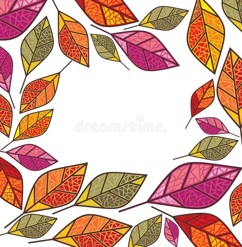 Trame d'automne illustration de vecteur