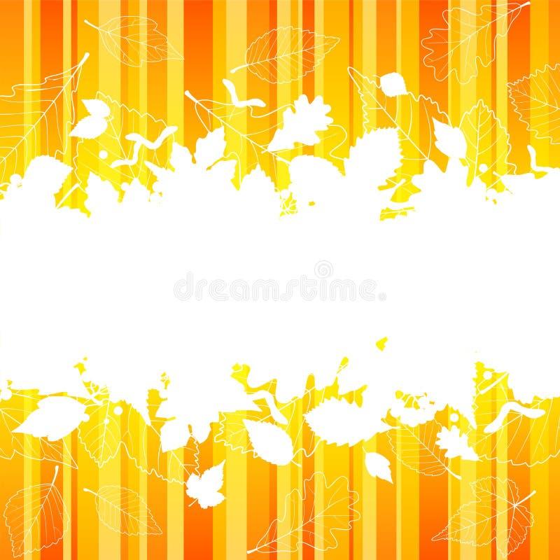 Trame d'automne de vecteur avec la silhouette de lame d'automne illustration stock
