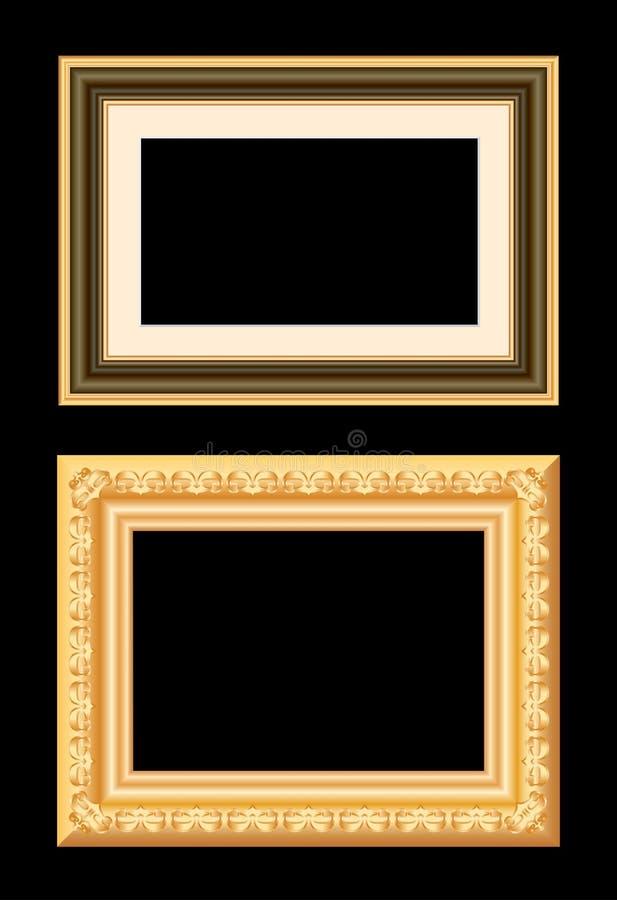 Trame d'or de Brown illustration libre de droits