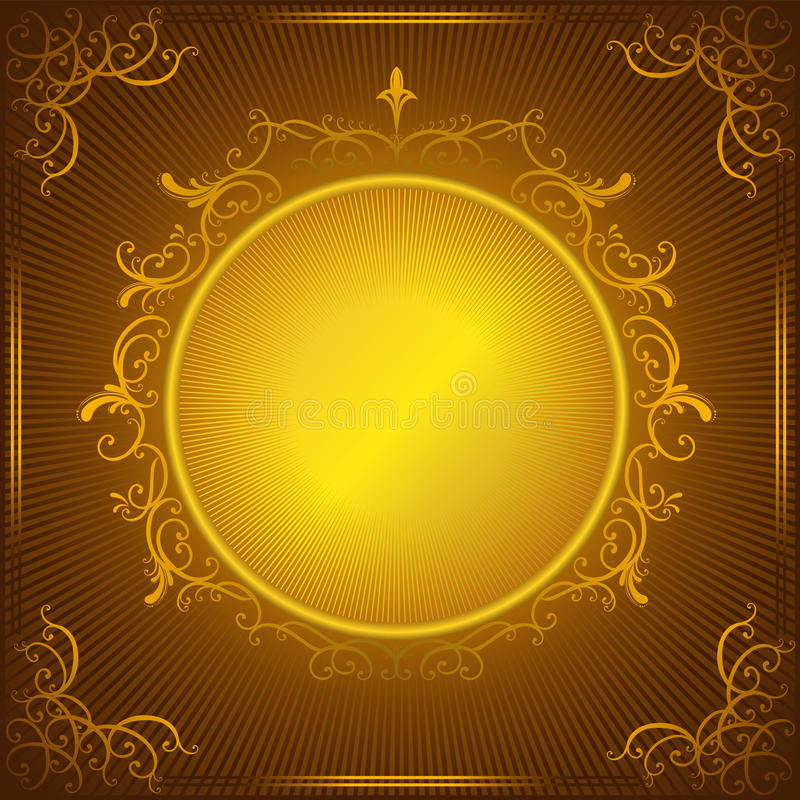 Trame d'or de cru illustration de vecteur