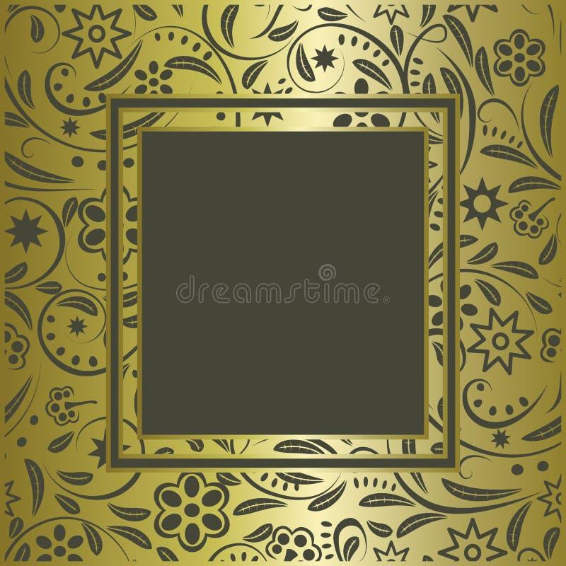 Trame d'or de cru illustration stock