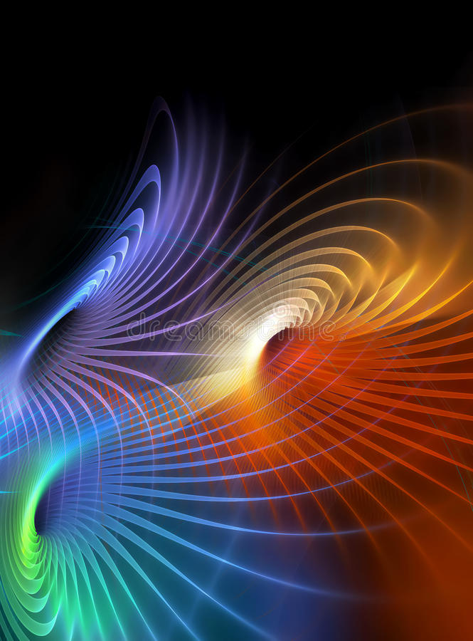 Trame d'exposition de lumière de fractale illustration de vecteur