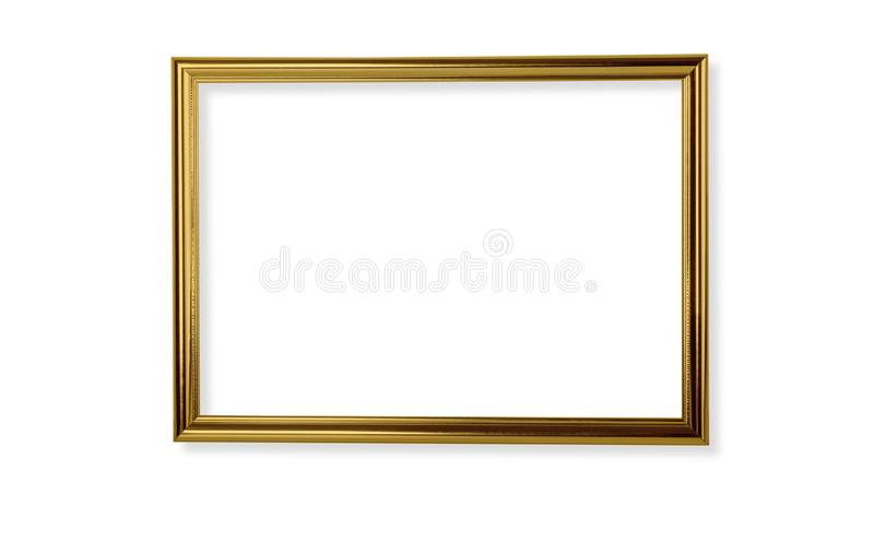 Trame d'or d'isolement photo stock