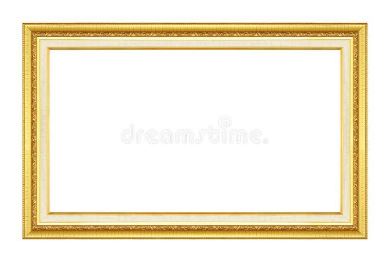 Trame d'or L'or/a doré des arts et ouvre le cadre de tableau de modèle image libre de droits