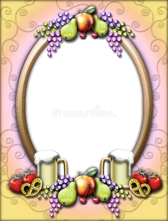 Trame d'Oktoberfest de fruit illustration libre de droits