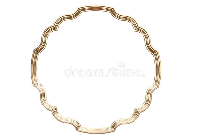 Trame d'or ronde image stock