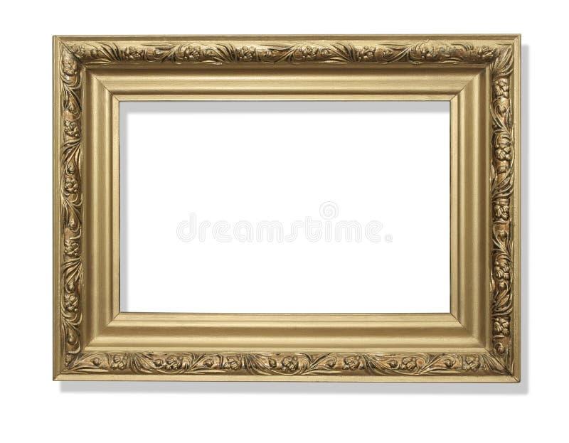 Trame d'or Sur le blanc images stock