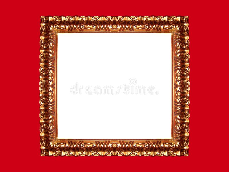 Trame d'or sur le fond rouge photos libres de droits