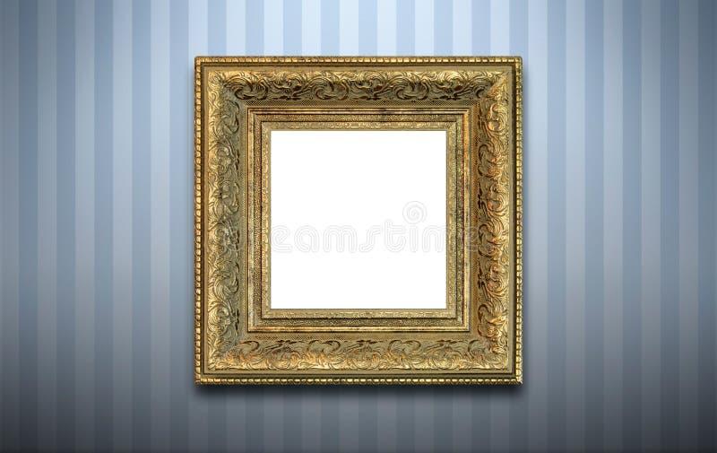 Trame d'or sur le mur   photographie stock