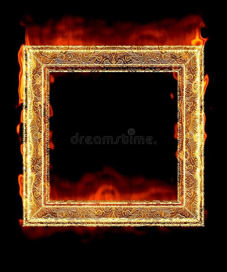 Trame d'un rouge ardent d'incendie illustration libre de droits