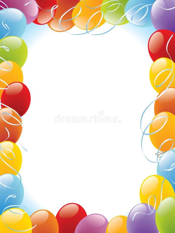 Trame de ballons illustration de vecteur