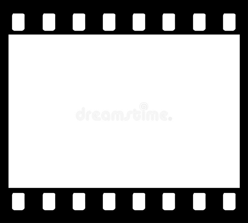 trame de bande de film de 35mm illustration de vecteur