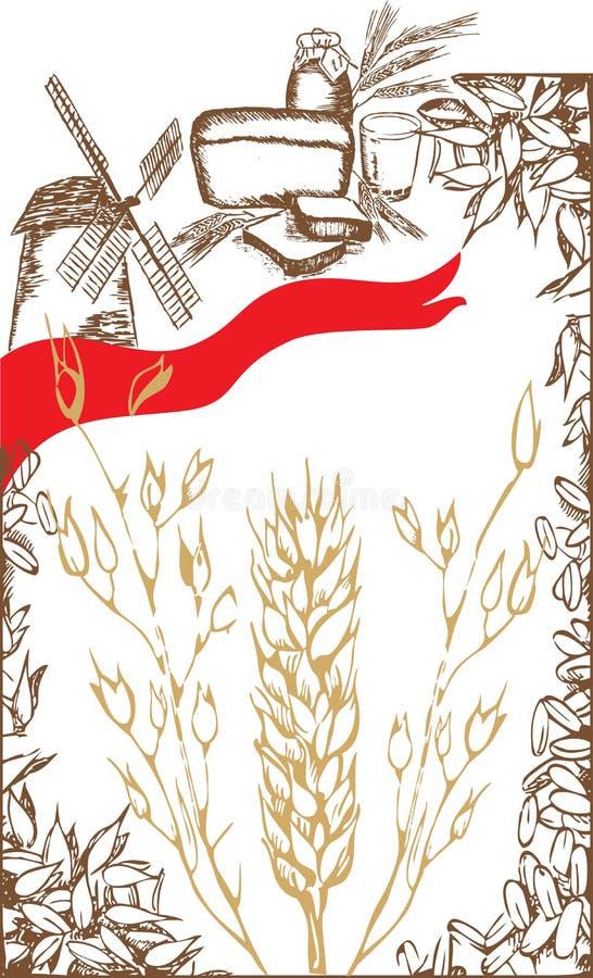 Trame de blé illustration stock