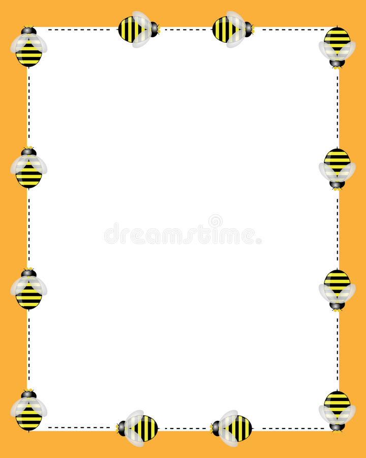 Trame de cadres d'abeilles illustration de vecteur