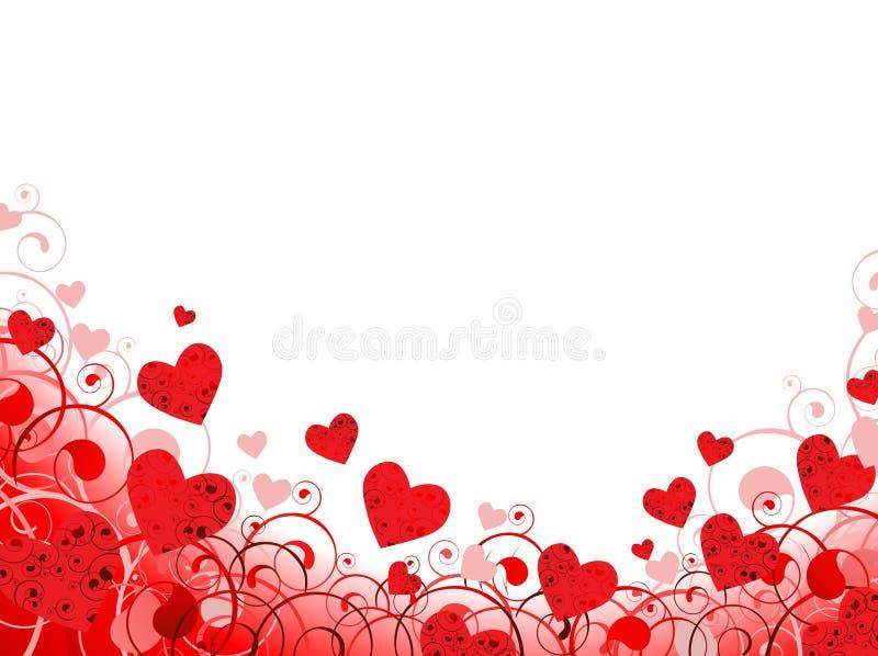 Trame de coeur en rouge avec le copie-espace blanc illustration de vecteur