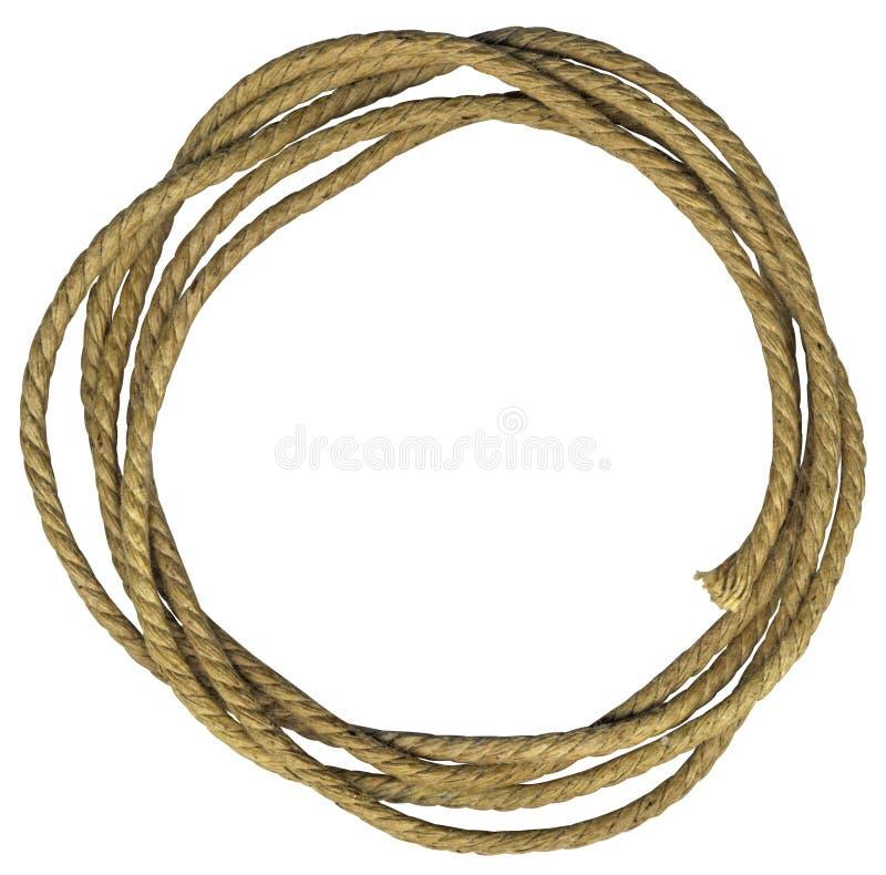 Trame de corde avec des noeuds images stock