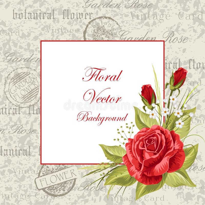 Trame de cru avec des fleurs illustration stock