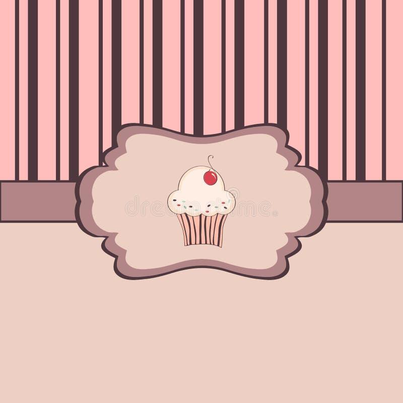 Trame de cru avec le petit gâteau illustration libre de droits