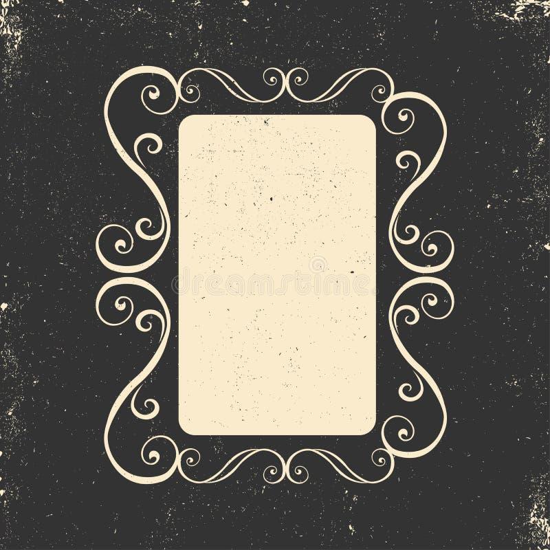 Trame de cru Configuration baroque Configuration 08 Carte de voeux Invitation de mariage Rétro type Calibre de vecteur pour votre illustration de vecteur