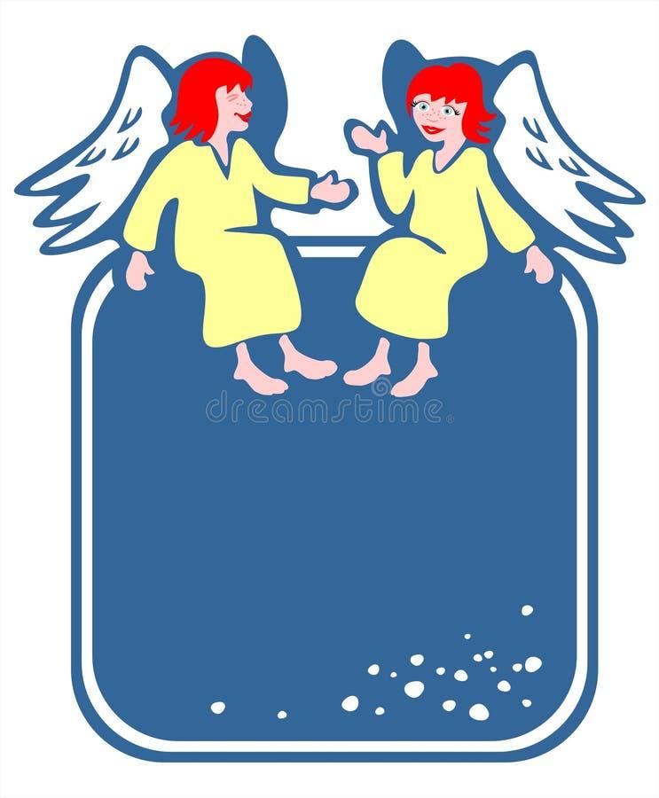 Trame de deux anges illustration stock