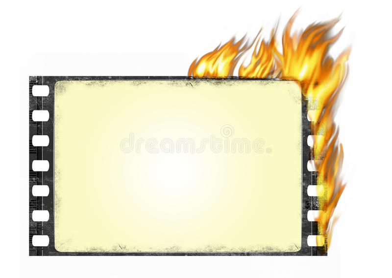 trame de film brûlante illustration libre de droits