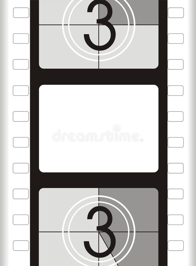 Trame de film - fond de film illustration stock