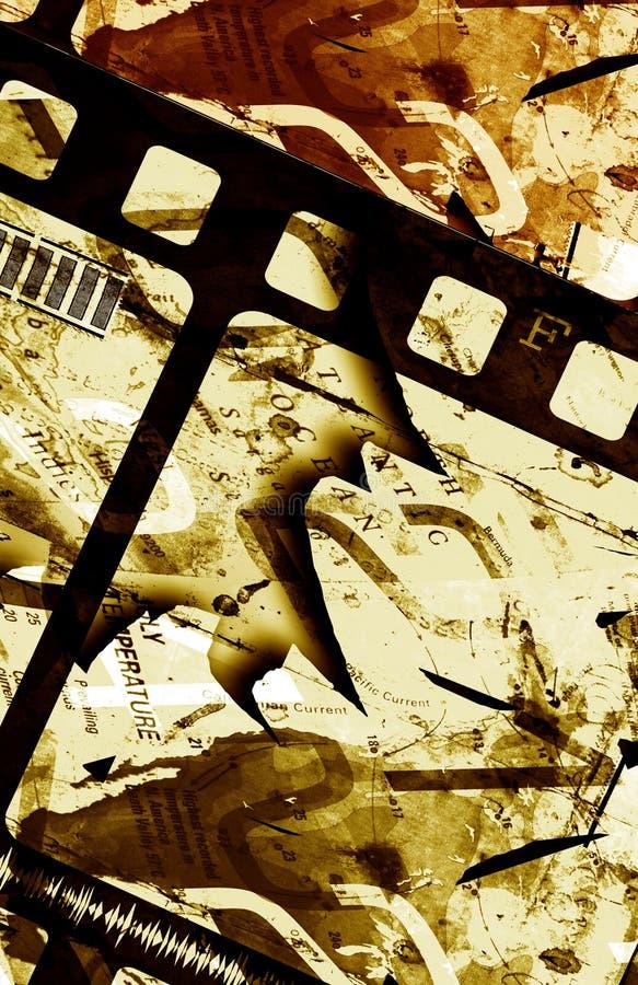 Trame de film grunge illustration stock