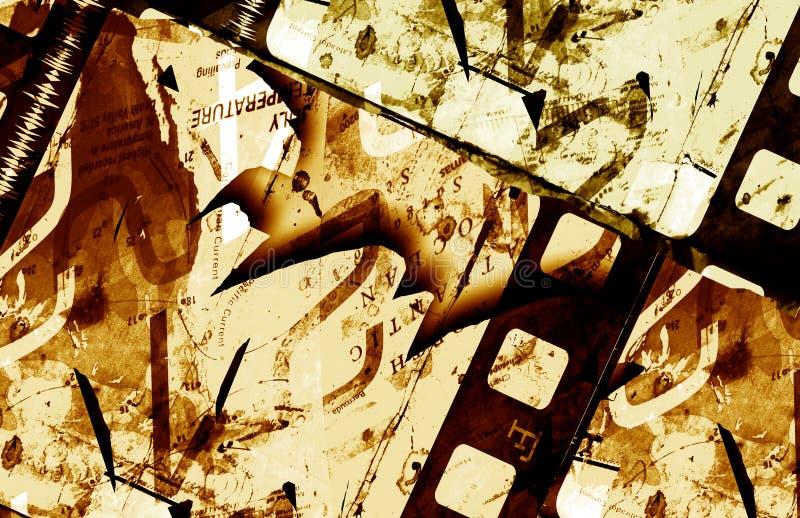 Trame de film grunge illustration de vecteur