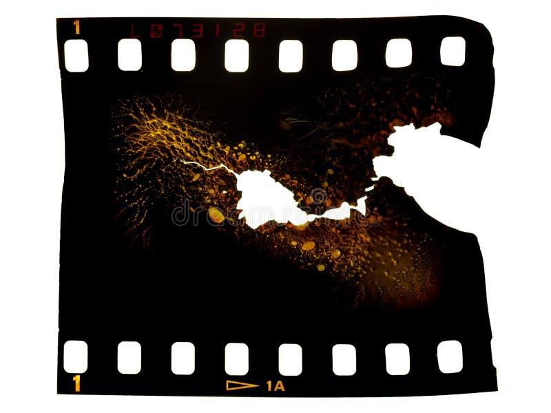 Trame de film photographique brûlée illustration de vecteur